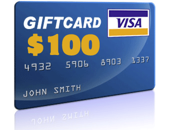 Chance to win a $100 Pre-paid VISA